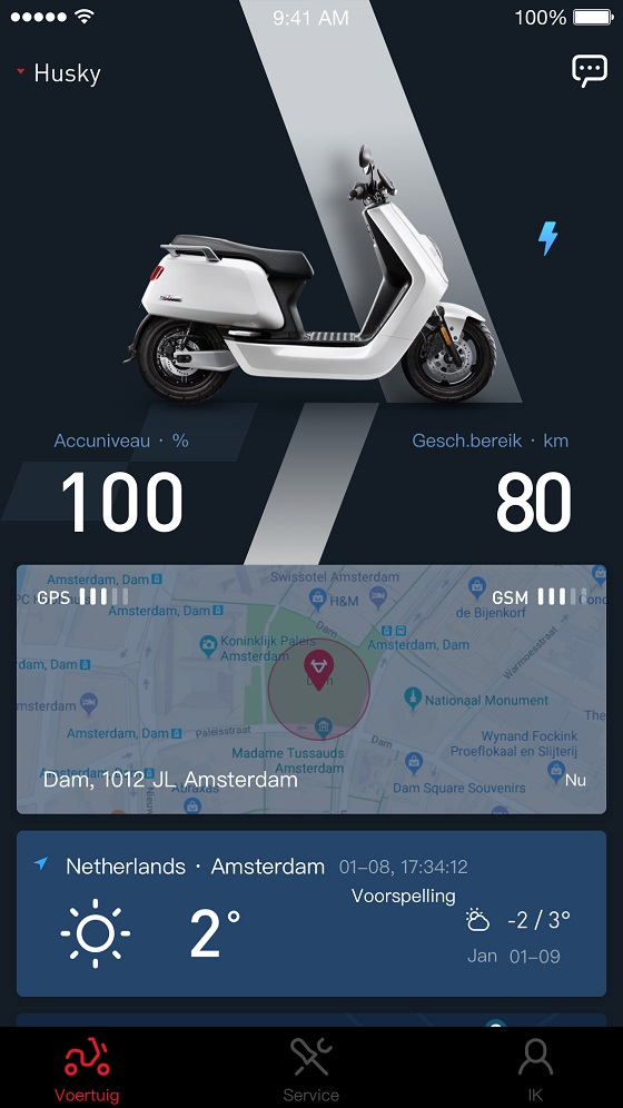 NIU app optimaliseert scooter via firmware update - www ab